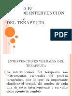 Capítulo 10 Tipos de intervención verbal del terapeuta Fiorini.pptx