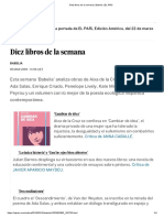 Diez Libros de La Semana _ Babelia _ EL PAÍS