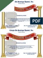 Cdsa Quarterly Awards