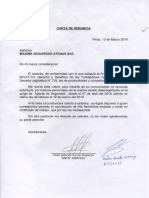 Carta de Renuncia Avp de La Cruz