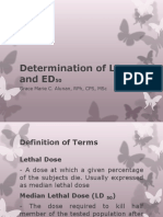 Determination of LD50 and ED50