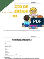 PROYECTO DE APRENDIZAJE  3°  MAYO - 2015.docx