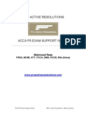 ACCA P5 Revision Notes | Benchmarking | Management Accounting