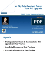 Take Control of Big Data in your Oracle Applications -------- OAUG 2012 ---- IMR