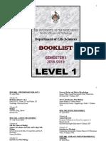 Sem. I 18-19- Level I Booklist 18-19 (002).doc