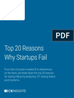 The 20 Reasons Startups Fail