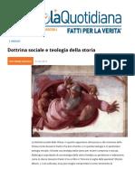 Dottrina Sociale e Teologia Della Storia