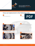 En How to Replace the Front Hub Bearing on Citroen C3