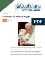 L'Amore Secondo Don Karol Wojtyla