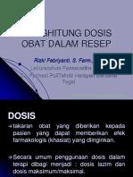 4. Perhitungan Dosis Resep PPT