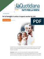 Se La Famiglia e Unitasi Supera Anche La Crisi