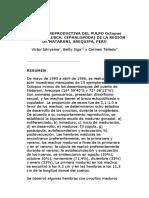 Biología Reproductiva Del Pulpo Octupus Mimus