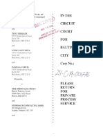 Complaint for Declaratory, and Injunctive Relief, Petition for Condemnation, Mayor and City Council of Baltimore v. The Stronach Group, No. 24-C-19-001776 (Mar. 19, 2019)