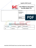 Application and Due Dilegence Document for Training Partner