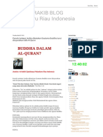 Gautama Buddha Turut Diisyaratkan Oleh Al-Quran