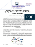 Design of SCS protocol and analysis of Quality of Service in Wireless Sensor Networks
