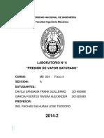 Informe N°6 Presión de vapor saturado.docx