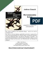 Zumach, Andreas - Die Kommenden Kriege (eBook German de)