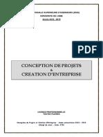 Conception de Projets Et Creation d'Entreprise_2019