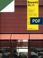 09 | Bauwelt | Schulen im ausland | 35 | Germany | Bauverlag BV | Deutsche Schule Madrid | pg. 10-11