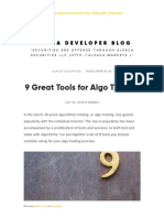 9 Great Tools for Algo Trading
