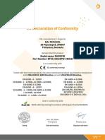 Acumulator Njoy PW9123D Certificates En
