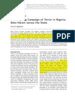 Terror in Nigeria Boko Haram
