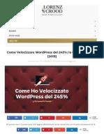 Come Velocizzare Il Tuo Sito Wordpress