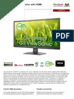 Viewsonic Va2407h en Datasheet Ok