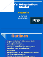 Roy's adaptation theory