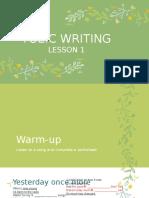 TOEIC WRITING TASK 1
