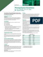Dirasol Diazo Photopolymer Emulsions