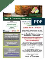 COSTA Newsletter - Mar Apr 2019