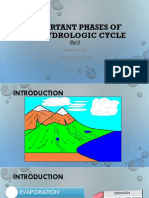 Important Phases of the Hydrologic Cycle 3.2