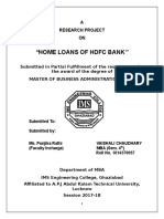 HOME LOANS OF HDFC BANK research report finance 2017.docx
