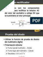 MANUAL DE PRUEBA Puente Rectificador CATERPILLAR