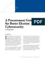 Procurement Guide for Better Election Cyber Security