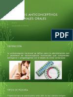 Métodos Anticonceptivos Hormonales Orales