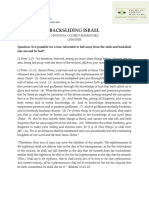 Backsliding Israel 1