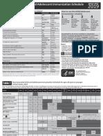 0 to 18yrs Combined Immunization Schedule