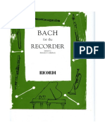 Bach_Cello Solo_Suites for Recorder Flauto Dolce