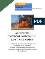Aspectos toxicologicos de los incendios