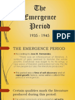 The Emergence Period F