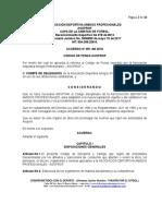 Codigo Discipliniario Asoprof 2018