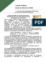 Manuel Econmia URSS Lei Do Desenvolvimento Planificado Da Economia Nacional