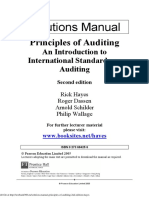 Solution Manual Principles of Auditing 2nd Edition Hayes