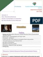 Orientalism - a (class) presentation