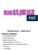 Welderqualification- ASME Sec IX