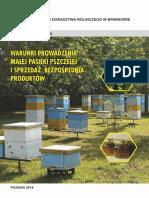 Warunki Prowadzenia Małej Pasieki Pszczelej i Sprzedaż Bezpośrednia Produktów (2014)