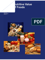 USDA Nutritive Value Of Foods